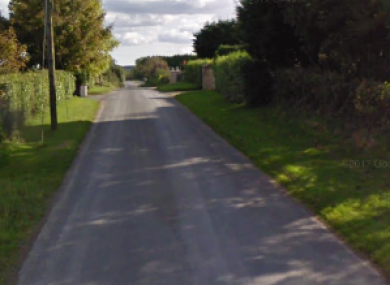 A stretch of road near to where the crash took place.