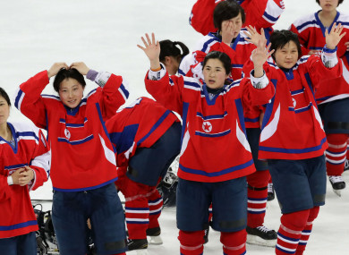North Korea's women's ice hockey team