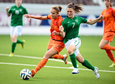 Keeva Keenan in action for the Ireland U19s.