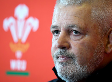 Wales head coach Warren Gatland.