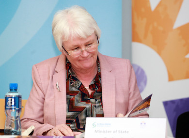 Minister of State for Health Promotion Catherine Byrne