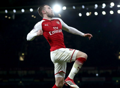 Hat-trick hero: Aaron Ramsey.