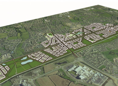 The proposed layout of Clonburris.