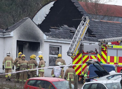 Emergency services at the house in Derrylin, Fermanagh