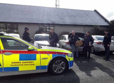 Gardaí involved in the searches
