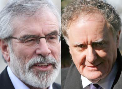 Gerry Adams and Vincent Browne