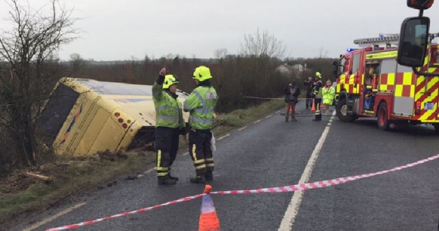 Seven people remain in hospital following the school bus crash this morning