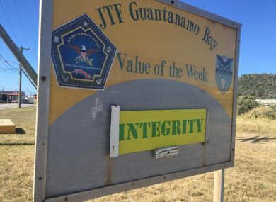 The Army value of the week on display in Guantanamo's Detention Zone on Saturday, Feb. 3, 2018, in a photo approved for release by the US military.