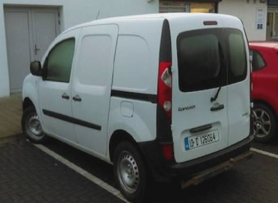 Gardaí are attempting  to track the movements of this van.