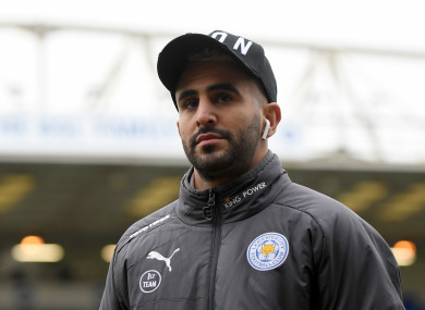Leicester City's Riyad Mahrez.