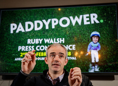 Paddy Power ambassador was speaking ahead of the Dublin Racing Festival.