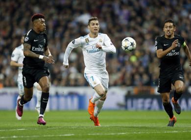 The man for the big occasion: Ronaldo scored twice tonight.