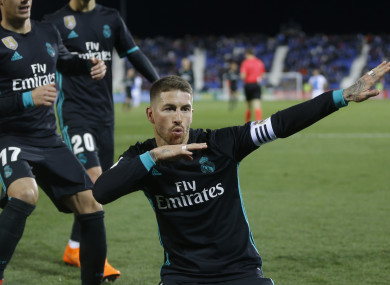 Real Madrid's Sergio Ramos (file pic),
