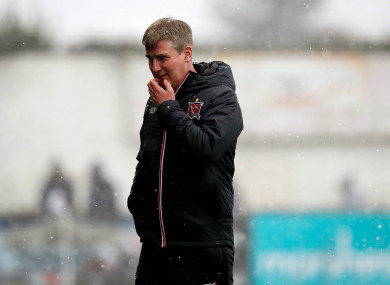 Stephen Kenny pictured during Sunday's President's Cup final.