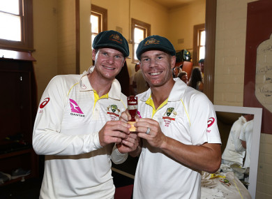 Smith and Warner have been banned for a year, just two months after winning the Ashes.