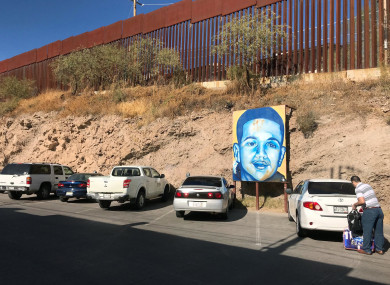 A mural of 16-year-old Jose Antonio Elend Rodriguez on the street where he was killed.