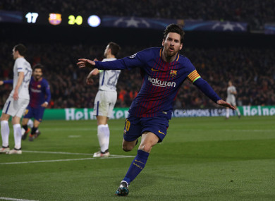 Messi bagged two tonight.