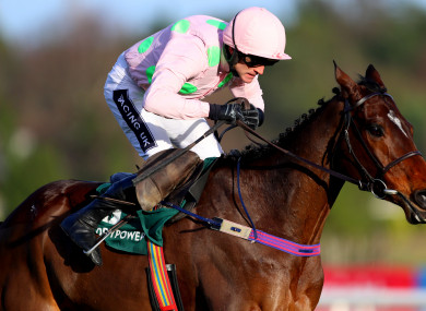 Ruby Walsh will ride Douvan in the Champion Chase on Wednesday.