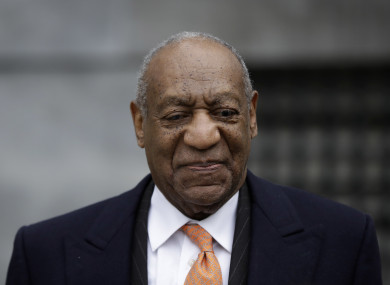 Bill Cosby leaving after his sexual assault trial yesterday
