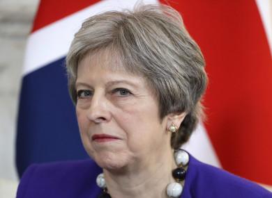 It's bad news for Theresa May.