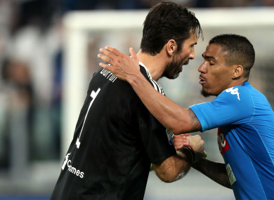 5a7921625b9 Buffon apologises for snubbing fans after Napoli defeat · The42