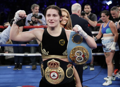 The champ champ: Katie Taylor.