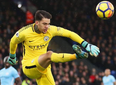 0402d744032 Man City 'keeper Ederson: 'I want to score before the end of the season'