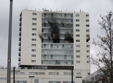The Metro Hotel in Ballymun pictured after the fire