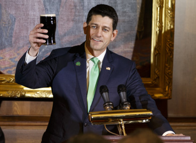 House of Representatives Paul Ryan said he would like the job as ambassador to Ireland one day.