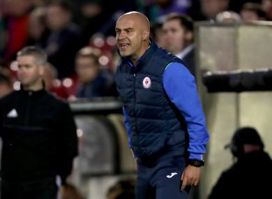 Sligo manager Gerard Lyttle.