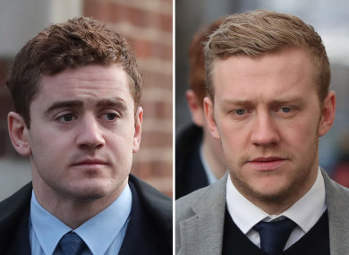 Jackson (left) and Olding have had their contracts revoked.