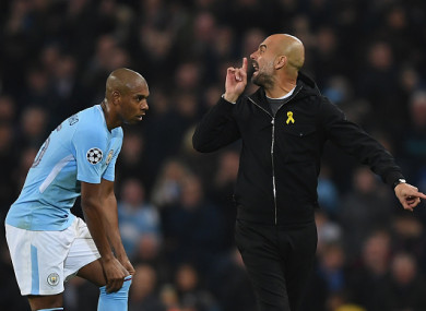 Pep wasn't pleased with the referee during the second leg.