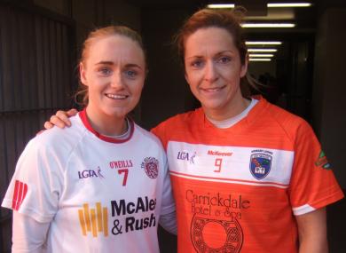 Northern Ireland netball teammates Neamh Woods and Caroline O'Hanlon.