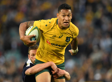 Israel Folau has come under fire for recent anti-gay comments.