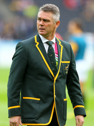 Heyneke Meyer was in charge of South Africa at the 2015 Rugby World Cup.