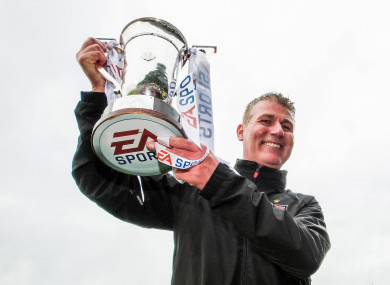 Dundalk manager Stephen Kenny with the EA Sports Cup.