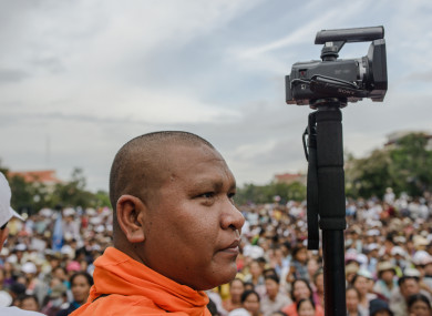 Venerable Luon Sovath - activist Buddhist monk who documented some events of the film.