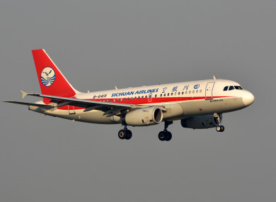 Flight 3U8633, operated by Sichuan Airlines, prepares to conduct an emergency landing.