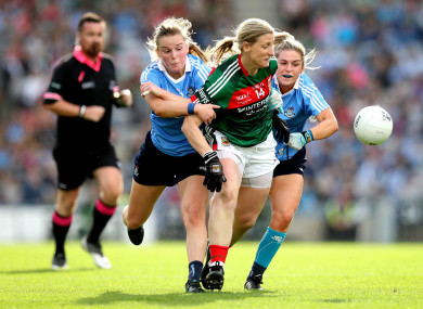 Cora Staunton in action in the 2017 All-Ireland final.