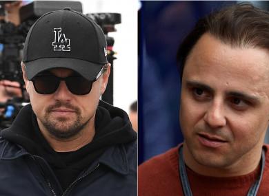 Leonardo Di Caprio and Felipe Massa