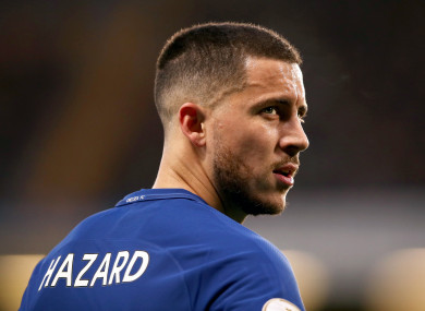 Chelsea's Eden Hazard (file pic).