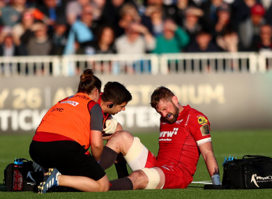 Barclay suffered the injury against Glasgow at Scotstoun on Friday night.