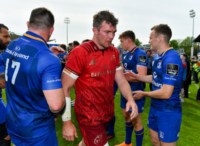 O'Mahony dejected at full-time.