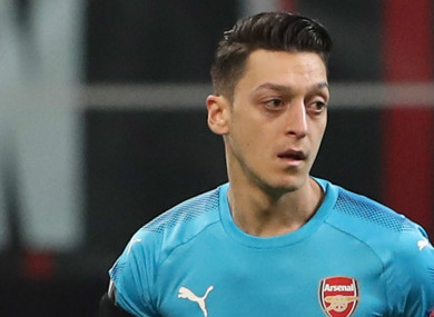 Mesut Ozil was heavily criticised by Martin Keown following Arsenal's Europa League exit.