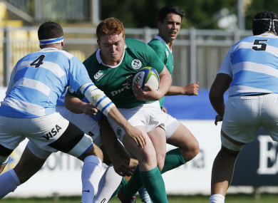 Heffernan in action against Argentina at the 2015 Junior World Championship.