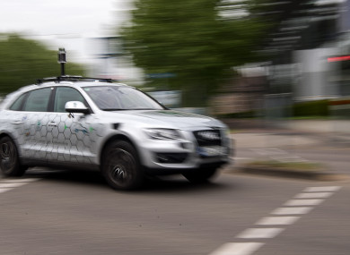 An autonomous vehicle of the research centre Informatik in Germany