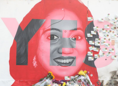 A mural in honour of Savita Halappanavar in Dublin.