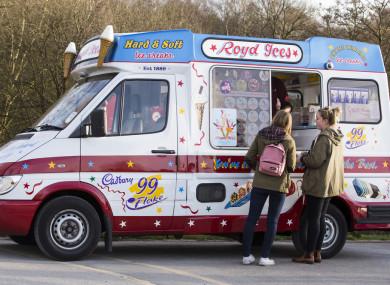 File photo of women buying ice cream