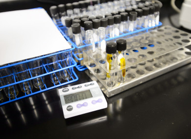 The samples are tested at labs in the United States.