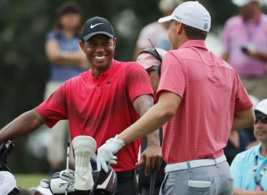 Tiger Woods and Jordan Spieth at Sawgrass.